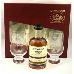 Edradour 10 years + 2 glasses