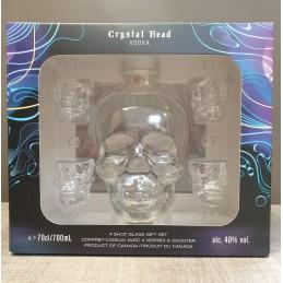 VODKA Crystal Head + 4 Shot...